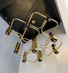 Gaetano Sciolari Brass Chandelier by Sciolari for Boulanger Belgium 1970s - 2139763