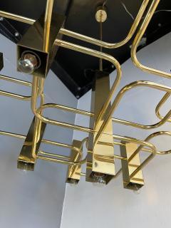 Gaetano Sciolari Brass Chandelier by Sciolari for Boulanger Belgium 1970s - 2139764