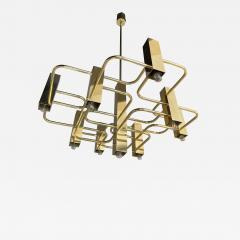 Gaetano Sciolari Brass Chandelier by Sciolari for Boulanger Belgium 1970s - 2144949
