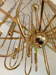 Gaetano Sciolari Brass Chandeliers Astrolab by Sciolari Italy 1970s - 1054669