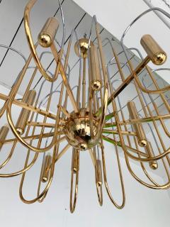 Gaetano Sciolari Brass Chandeliers Astrolab by Sciolari Italy 1970s - 1054673