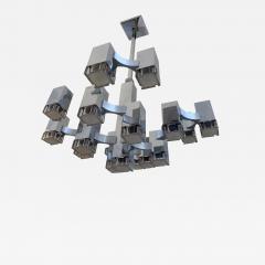 Gaetano Sciolari Chandelier Cubic by Sciolari Italy 1970s - 1636301
