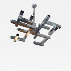 Gaetano Sciolari Chandelier Metal Chrome Futura by Sciolari Italy 1970s - 1515092