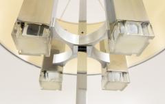 Gaetano Sciolari Chrome floor lamp with fabric shade by Gaetano Sciolari 1970s - 693529