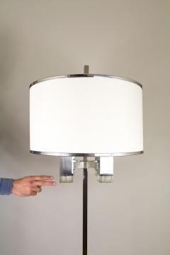Gaetano Sciolari Chrome floor lamp with fabric shade by Gaetano Sciolari 1970s - 693533