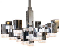 Gaetano Sciolari Cubist Pendant Light By Gaetano Sciolari Circa 1975 - 566783
