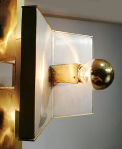 Gaetano Sciolari Elegant Sculptural Brass and Mirrored Metal Chandelier from Sciolari 1970s - 1905420
