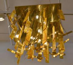 Gaetano Sciolari Gaetano Sciolari Brass Murano Glass Flush Mount Ceiling Fixture - 1095581