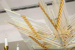 Gaetano Sciolari Gaetano Sciolari Iridescent Rod and Gold Plated Chandelier - 2132939