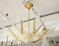 Gaetano Sciolari Gaetano Sciolari Iridescent Rod and Gold Plated Chandelier - 2132940