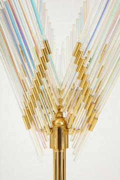 Gaetano Sciolari Gaetano Sciolari Iridescent and Gold Plated Standing Lamp - 2133189
