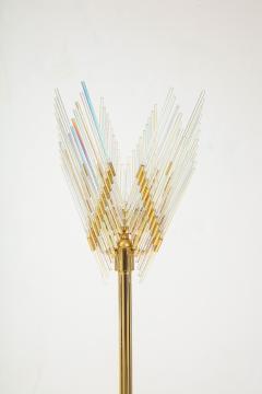 Gaetano Sciolari Gaetano Sciolari Iridescent and Gold Plated Standing Lamp - 2133190