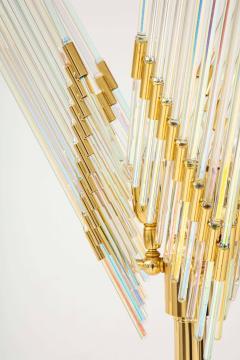 Gaetano Sciolari Gaetano Sciolari Iridescent and Gold Plated Standing Lamp - 2133195