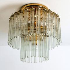 Gaetano Sciolari Glass Rod Waterfall Flush Mount Sciolari for Lightolier 1970 - 1109130