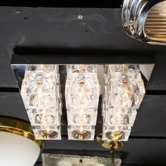 Gaetano Sciolari Mid Century Modern Nine Cube Chrome Glass Flush Mount Chandelier by Sciolari - 2050541