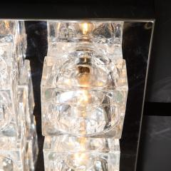 Gaetano Sciolari Mid Century Modern Nine Cube Chrome Glass Flush Mount Chandelier by Sciolari - 2050542