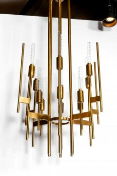 Gaetano Sciolari Mid Century Modern brass 12 lights Chandelier by Gaetano Sciolari 1960s - 763986