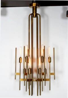 Gaetano Sciolari Mid Century Modern brass 12 lights Chandelier by Gaetano Sciolari 1960s - 763988