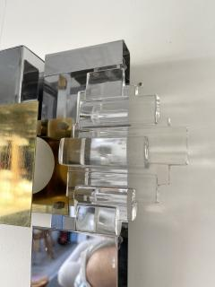 Gaetano Sciolari Pair of Metal Brass Glass Sconces by Sciolari for Stilkronen Germany 1970s - 2013828