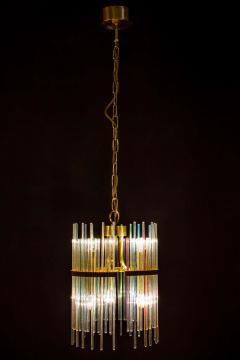 Gaetano Sciolari Rainbow Crystal Rod and Brass Chandelier or Lantern by Gaetano Sciolari 1960s - 1910355