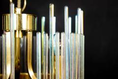 Gaetano Sciolari Rainbow Crystal Rod and Brass Chandelier or Lantern by Gaetano Sciolari 1960s - 1910357