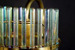 Gaetano Sciolari Rainbow Crystal Rod and Brass Chandelier or Lantern by Gaetano Sciolari 1960s - 1910358