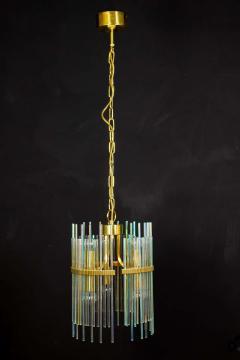 Gaetano Sciolari Rainbow Crystal Rod and Brass Chandelier or Lantern by Gaetano Sciolari 1960s - 1910359