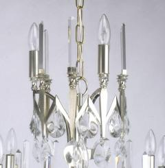 Gaetano Sciolari Rare Italian Import Gaetano Sciolari Silver and Crystal Nine Light Chandelier - 134522