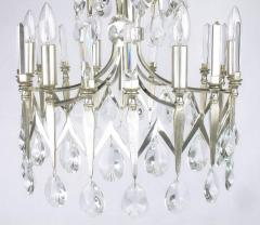 Gaetano Sciolari Rare Italian Import Gaetano Sciolari Silver and Crystal Nine Light Chandelier - 134523