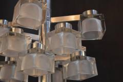 Gaetano Sciolari Sciolari Chrome and Frosted Glass Chandelier - 336859