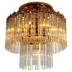 Gaetano Sciolari Set of 3 Glass Rod Waterfall Light Fixtures Sciolari for Lightolier 1970 - 1336552