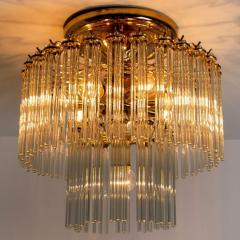 Gaetano Sciolari Set of 3 Glass Rod Waterfall Light Fixtures Sciolari for Lightolier 1970 - 1336569