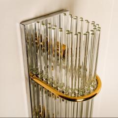 Gaetano Sciolari Set of 3 Glass Rod Waterfall Light Fixtures Sciolari for Lightolier 1970 - 1336573