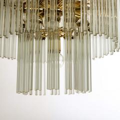 Gaetano Sciolari Set of 3 Glass Rod Waterfall Light Fixtures Sciolari for Lightolier 1970 - 1336575