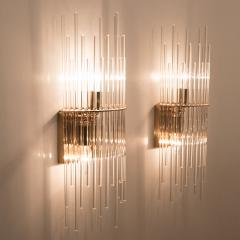 Gaetano Sciolari Set of Three Sciolari Glass Rod Waterfall Light Fixtures for Lightolier Italy - 1164832