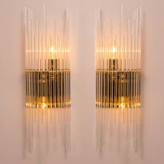 Gaetano Sciolari Set of Three Sciolari Glass Rod Waterfall Light Fixtures for Lightolier Italy - 1164833
