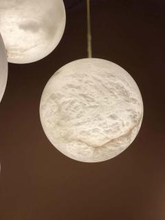 Galaxy Contemporary Italian Alabaster Marble Globe Chandelier - 1636839
