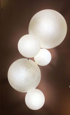 Galaxy Contemporary Italian Alabaster Marble Globe Chandelier - 1636843