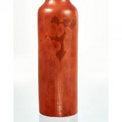 Gambone Fantoni Signed Fantoni 1950s Early 1960s Handmade Pottery Italian Red Orange Lamp - 431785