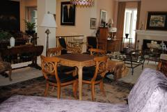 Game Table and set of Four Italian Klismos Chairs - 965279