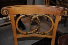 Game Table and set of Four Italian Klismos Chairs - 965280
