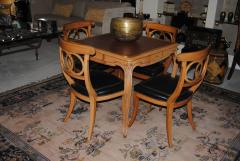 Game Table and set of Four Italian Klismos Chairs - 965282