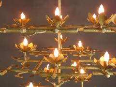 Garden Chandelier with Gold Finish - 386419