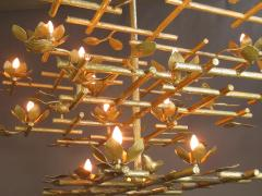 Garden Chandelier with Gold Finish - 386423