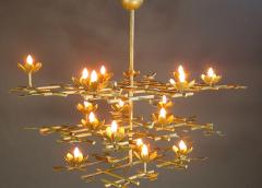 Garden Chandelier with Gold Finish - 386425