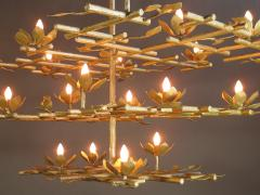 Garden Chandelier with Gold Finish - 386426
