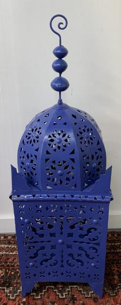 Garden Floor Lantern or Candleholder in Blue a Pair - 1597522
