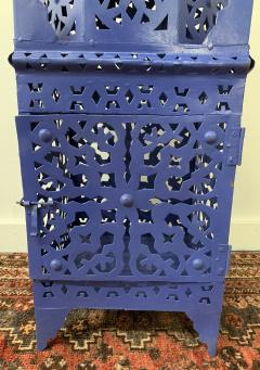 Garden Floor Lantern or Candleholder in Blue a Pair - 1597525