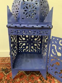 Garden Floor Lantern or Candleholder in Blue a Pair - 1597530