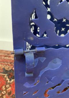Garden Floor Lantern or Candleholder in Blue a Pair - 1597532